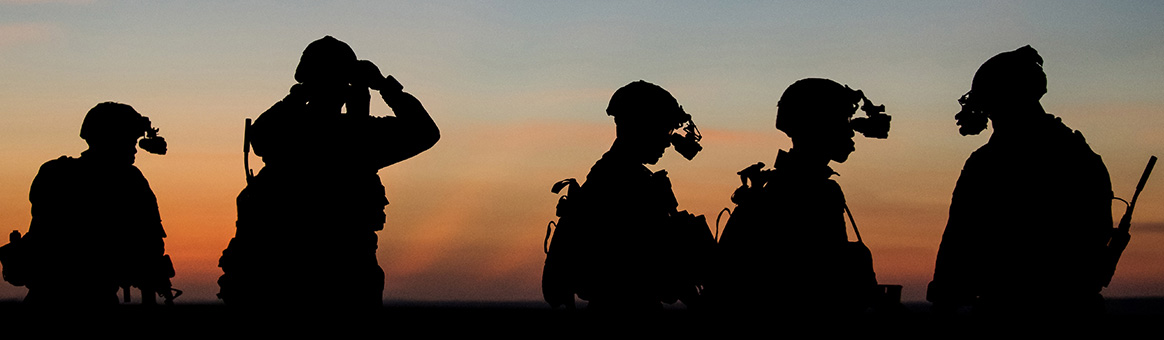 resources background header image - soldier against sunset